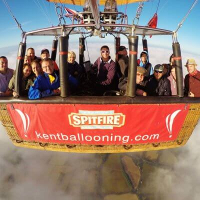 Kent Ballooning | Group shot above the clouds