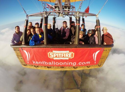 Kent Ballooning   Group shot above the clouds