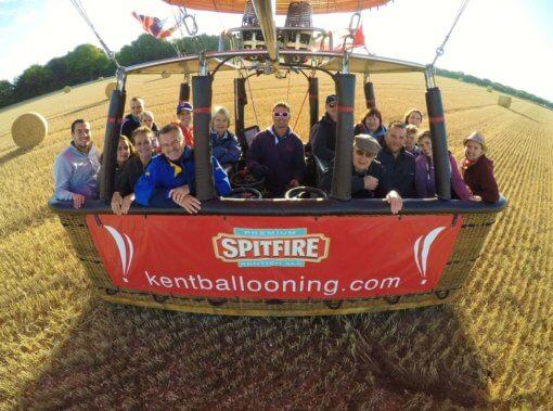 Kent Ballooning | Group Shot Hay Bale