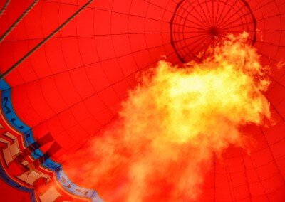 Kent Ballooning  Flames in