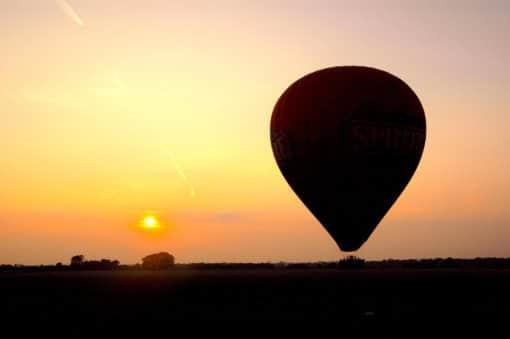 Kent Ballooning  Landing Sunset