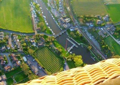 Kent Ballooning  Rivers below