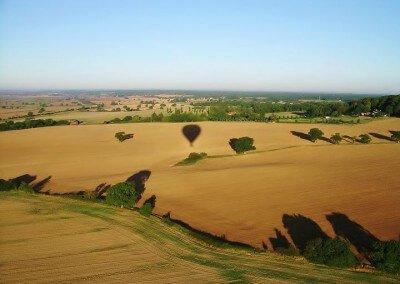 Kent Ballooning   Shadows on brown fields