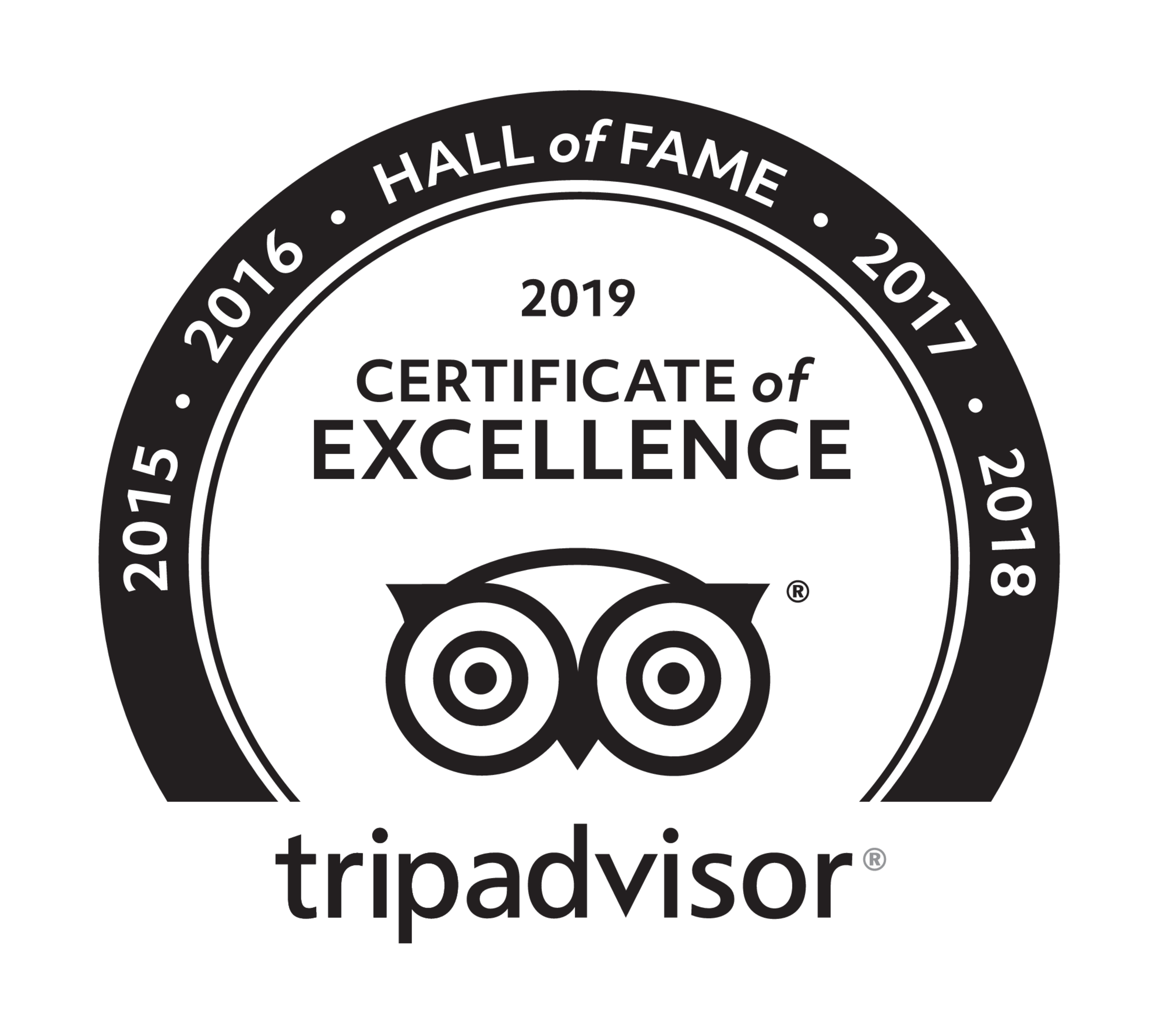 Kent Ballooning | Trip Advisor Certificate of Excellence Hall of Fame Logo 2019