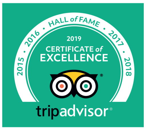 Kent Ballooning | Trip Advisor Certificate of Excellence Hall of Fame Logo 2019 Green